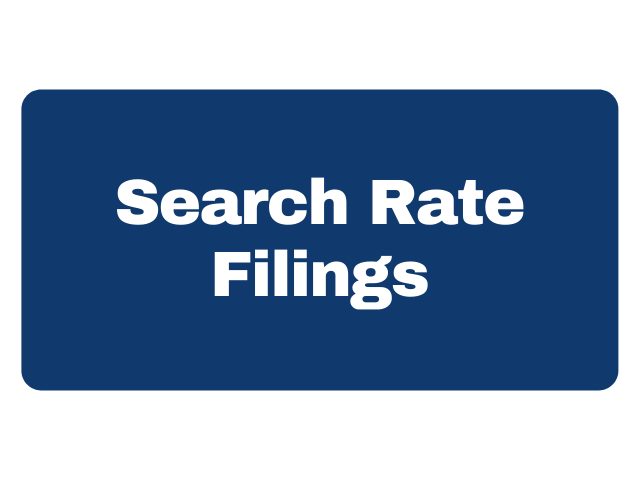 Search Rate Filings